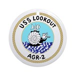 USS Lookout (AGR 2) Ornament (Round)