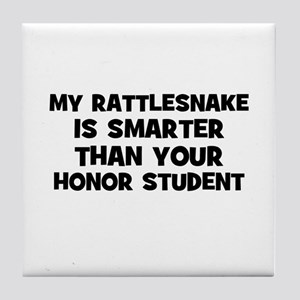 my rattlesnake is smarter tha Tile Coaster