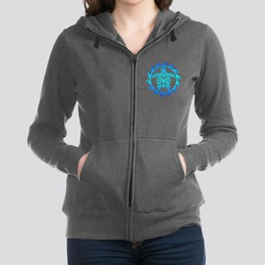 Blue Tribal Turtle Sun Sweatshirt