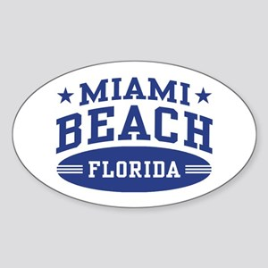 Miami Beach Florida Sticker (Oval)