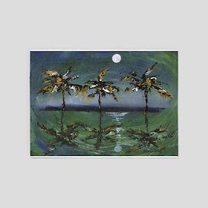 Moon Palms 5'x7'Area Rug