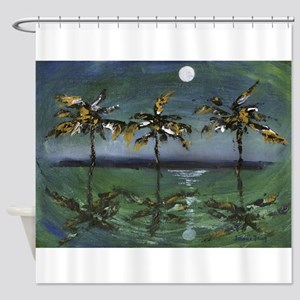 Moon Palms Shower Curtain