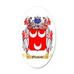 Olyphant Oval Car Magnet