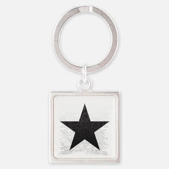 Unique Star david Square Keychain