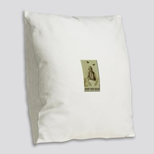 Chief High Bear Burlap Throw Pillow