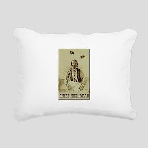 Chief High Bear Rectangular Canvas Pillow