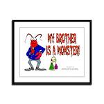 Monster! (Lobster) Framed Panel Print