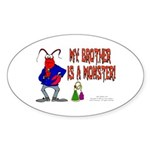 Monster! (Lobster) Oval Sticker