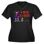 Monster! (Lobster) Women's Plus Size V-Neck Dark T