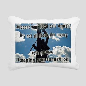 Support your Lineworker Rectangular Canvas Pillow