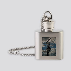 Support your Lineworker Flask Necklace