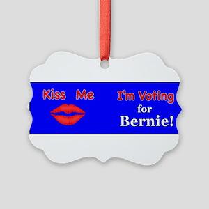Kiss Me Vote Bernie Picture Ornament
