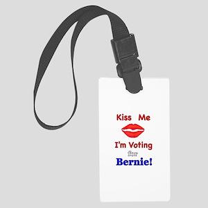 Kiss Me Vote Bernie Large Luggage Tag
