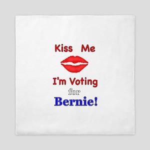 Kiss Me Vote Bernie Queen Duvet