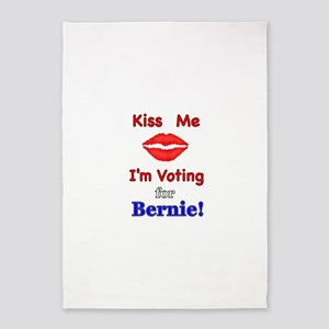 Kiss Me Vote Bernie 5'x7'Area Rug