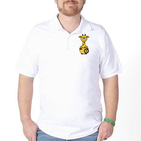 Cyclist Giraffe Golf Shirt