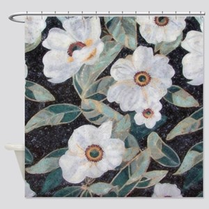 Floral Mosaic Shower Curtain