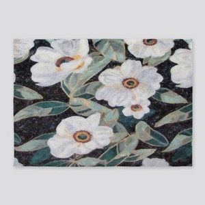 Floral Mosaic 5'x7'Area Rug