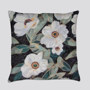 Floral Mosaic Everyday Pillow
