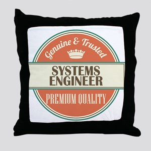 systems engineer vintage logo Throw Pillow