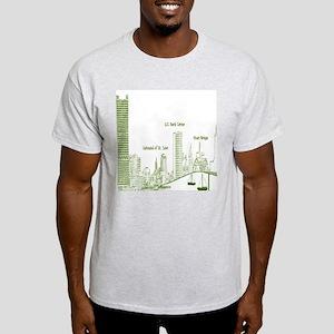 Milwaukee Skyline Green T-Shirt