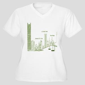 Milwaukee Skyline Green Plus Size T-Shirt
