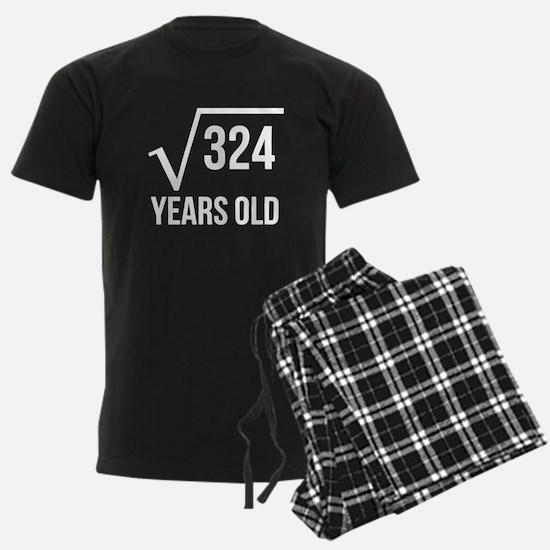 18 Years Old Square Root Pajamas