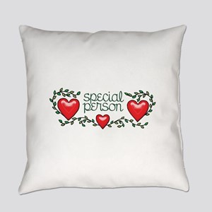 Hearts and Vines Special Person Everyday Pillow