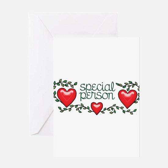 Hearts and Vines Special Person Greeting Cards