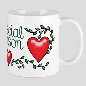 Hearts and Vines Special Person Mugs