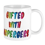 Gifted With Aspergers Mugs