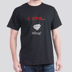 I Love Bling Dark T-Shirt