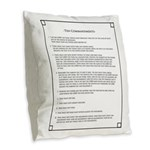 The Ten Commandments Burlap Throw Pillow