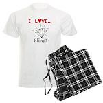 I Love Bling Men's Light Pajamas