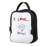 I Love Bling Neoprene Lunch Bag
