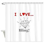 I Love Bling Shower Curtain