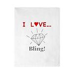 I Love Bling Twin Duvet