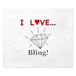 I Love Bling King Duvet