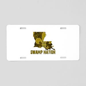 Louisiana Swamp Nation Aluminum License Plate