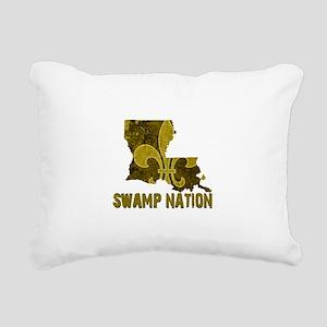 Louisiana Swamp Nation Rectangular Canvas Pillow