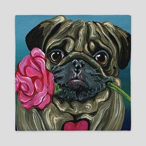 Pug Valentine Queen Duvet