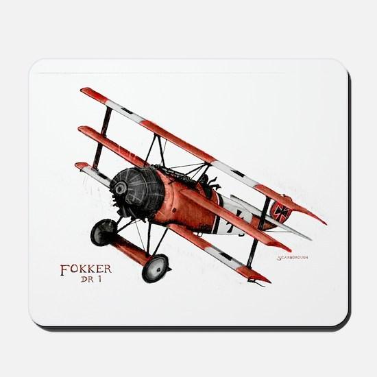 Fokker DR 1 1917 Mousepad