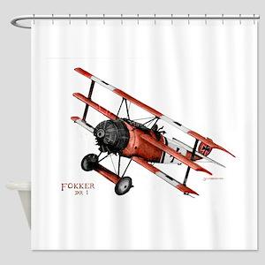 Fokker DR 1 1917 Shower Curtain
