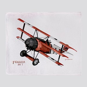 Fokker DR 1 1917 Throw Blanket