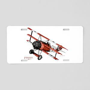 Fokker DR 1 1917 Aluminum License Plate