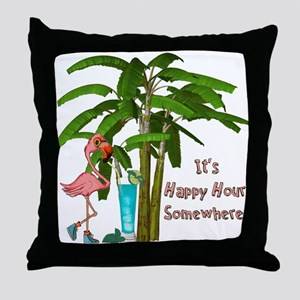 It's Happy Hour Somewhere Throw Pillow