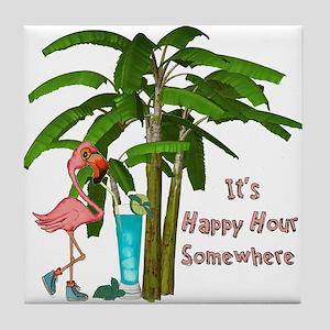 It's Happy Hour Somewhere Tile Coaster
