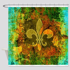 Louisiana Rustic Fleur de lis Shower Curtain