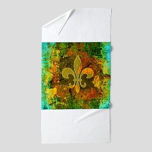 Louisiana Rustic Fleur de lis Beach Towel