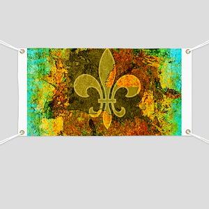 Louisiana Rustic Fleur de lis Banner